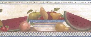 Vintage Wallpaper Fruit Border