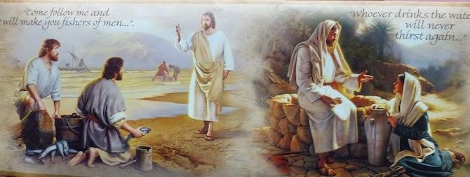 The story of Jesus Vintage Wallpaper Border