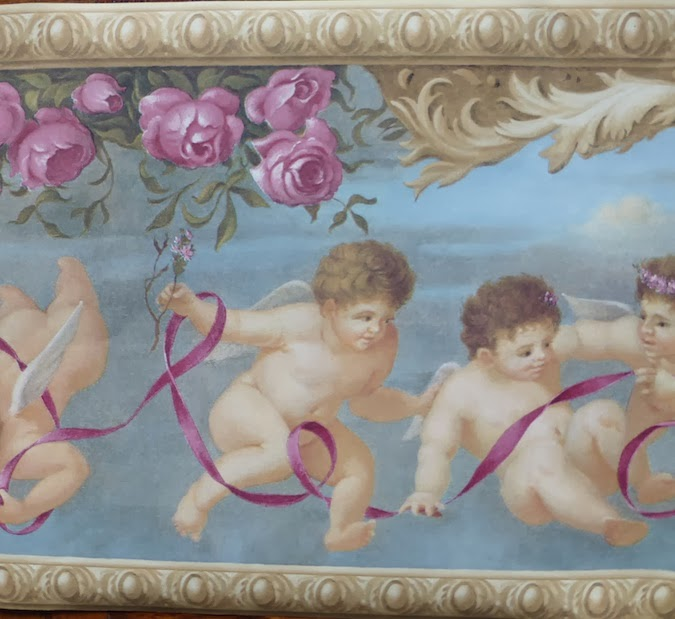 Cupid Angels Vintage Wallpaper Border