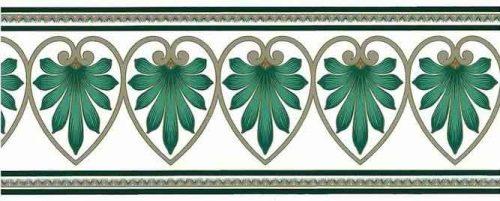 Reversible Green Feather Wallpaper Border