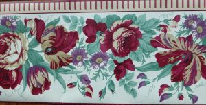 Waverly Floral Wallpaper Border: color of love