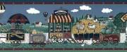 Americana County Fair Wallpaper Border