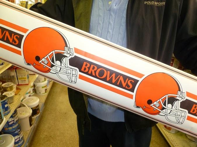 Ohio's Cleveland Browns Wallpaper Border