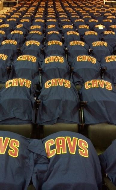 Cavs Shirts at Home Game