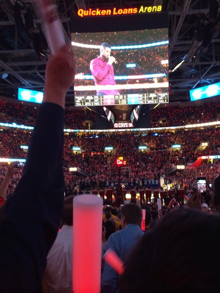 Usher sings National Anthem at Cavs Game