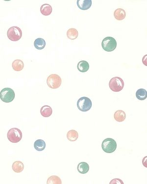 Circles vintage wallpaper, pearlized, children, kids, pink, blue, green, white, nursery, playroom