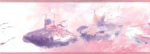 ballet wallpaper border, tutus, pink, blue, purple, white