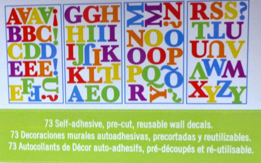 Alphabet Letters Wall Decals Set
