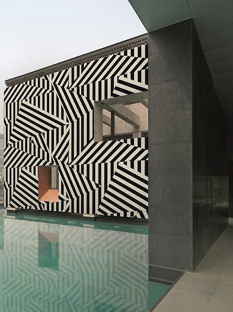 Outdoor wallpaper alternative, zebra stripe
