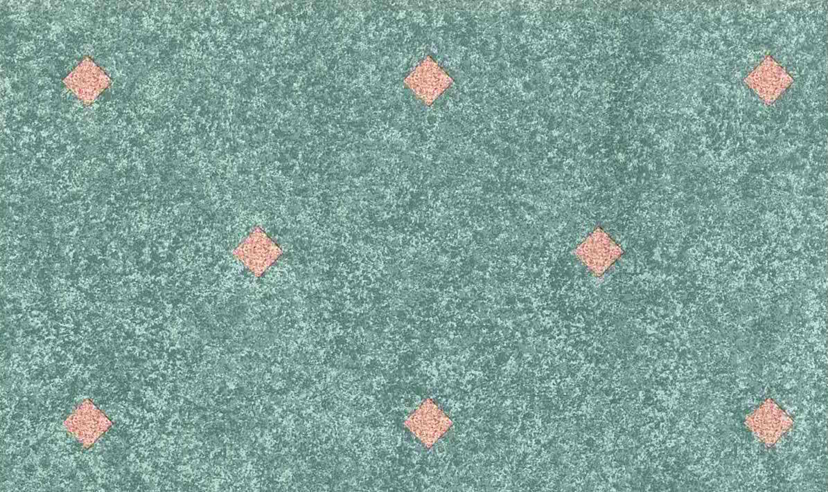Diamond Shape Vintage Wallpaper, pink green, white, geometric