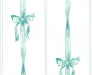 Ribbon and bows wallpaper teal and white