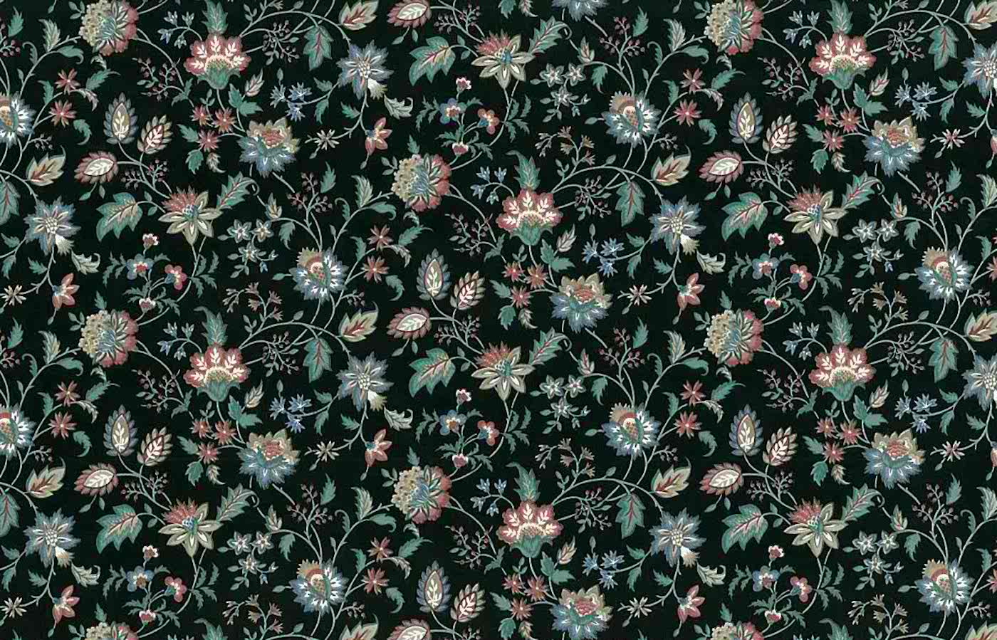 Paisley Vintage Wallpaper Black Green Blue Rose Floral GI2011 D Rs