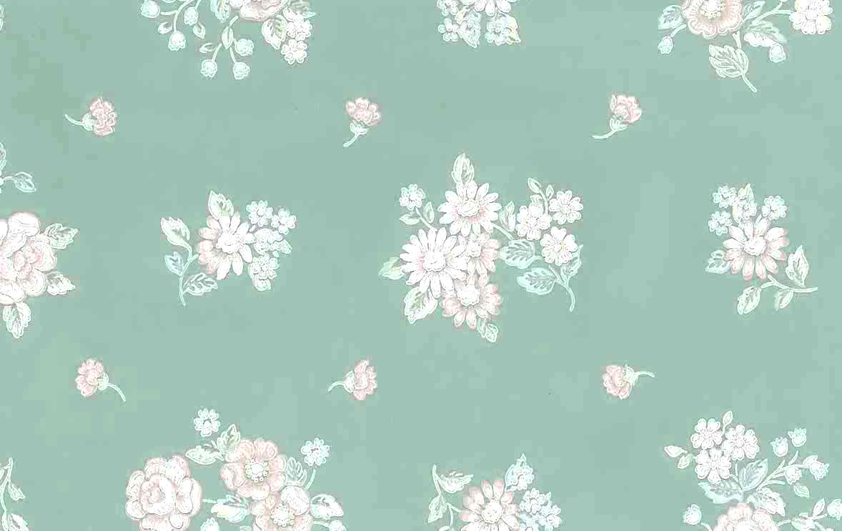 Green Pink Floral Vintage Wallpaper Blue White Sm2143 Drs