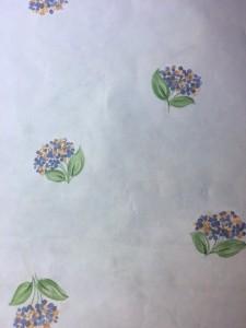 Blue hydrangeas vintage wallpaper,yellow,green,Sky Blue
