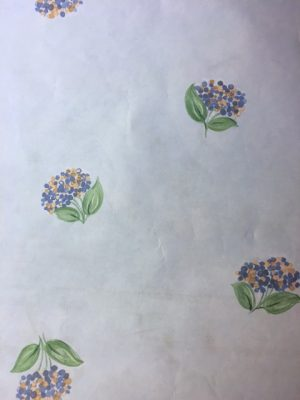 Blue hydrangeas vintage wallpaper,yellow,green,Sky Blue