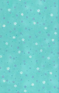 turquoise floral vintage wallpaper, purple, white, yellow