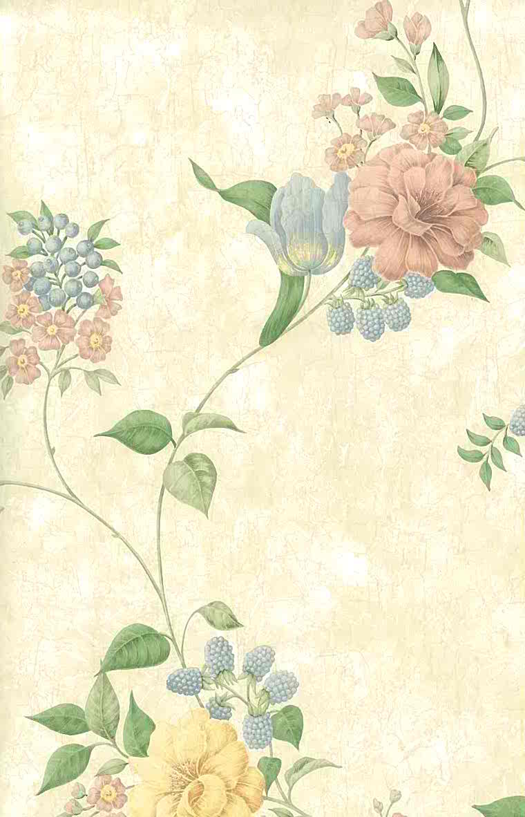 wallpaper vintage flowers cream - photo #1