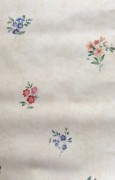 Summer floral wallpaper cottage style