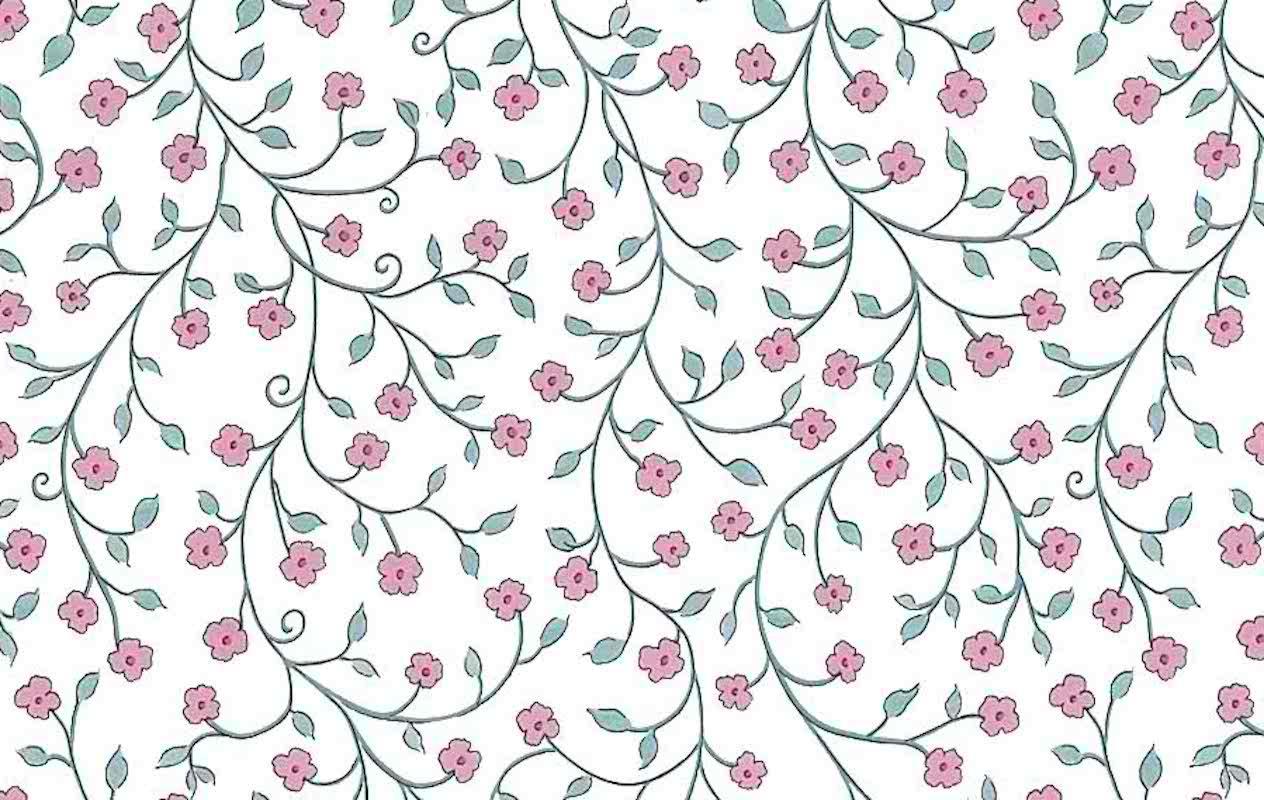 Victorian Floral Vintage Wallpaper Pink Blue Am2043 Drs
