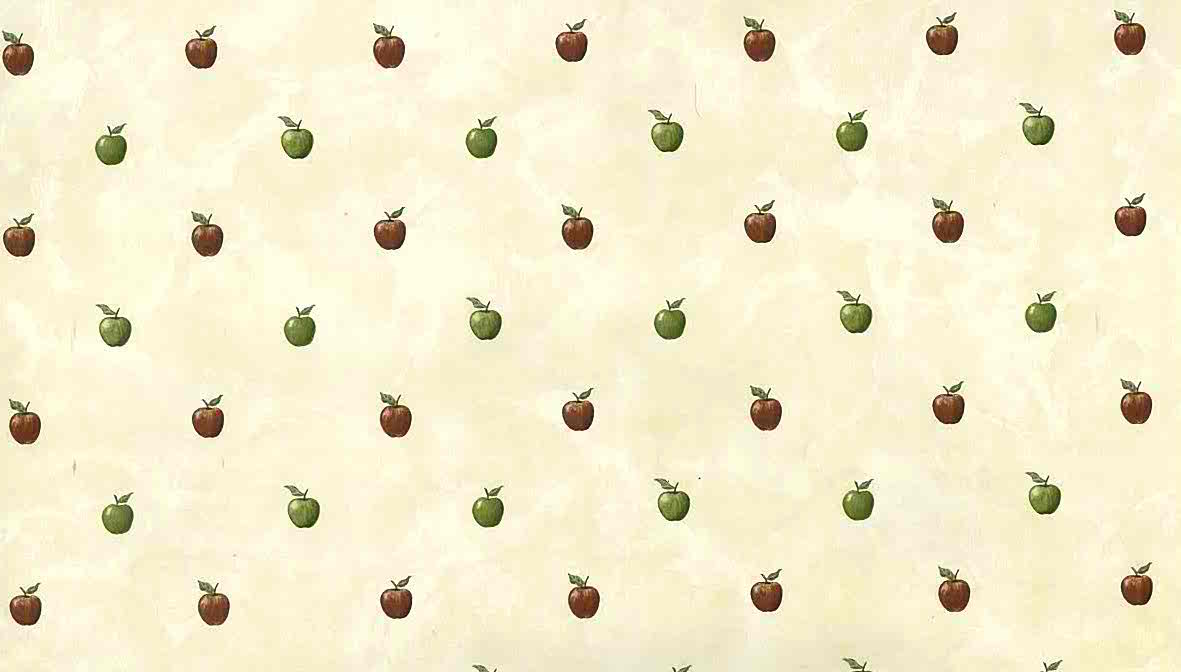 red green apples vintage wallpaper faux 176110 d/rs