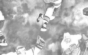 hockey vintage wallpaper, gray, sports