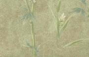 Ronald Redding bamboo wallpaper, Oriental, butterflies, brown, bronze, green, alternative view