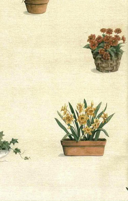 Daffodils Vintage Wallpaper