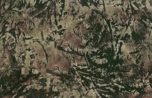 Leaf Pattern Wallpaper Dark Green Brown Purple