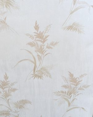 Embossed leaf wallpaper, cream, beige, textured, glazed, embossed