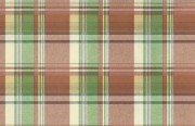 Large-scale Waverly plaid wallpaper in red, orange, green, yellow