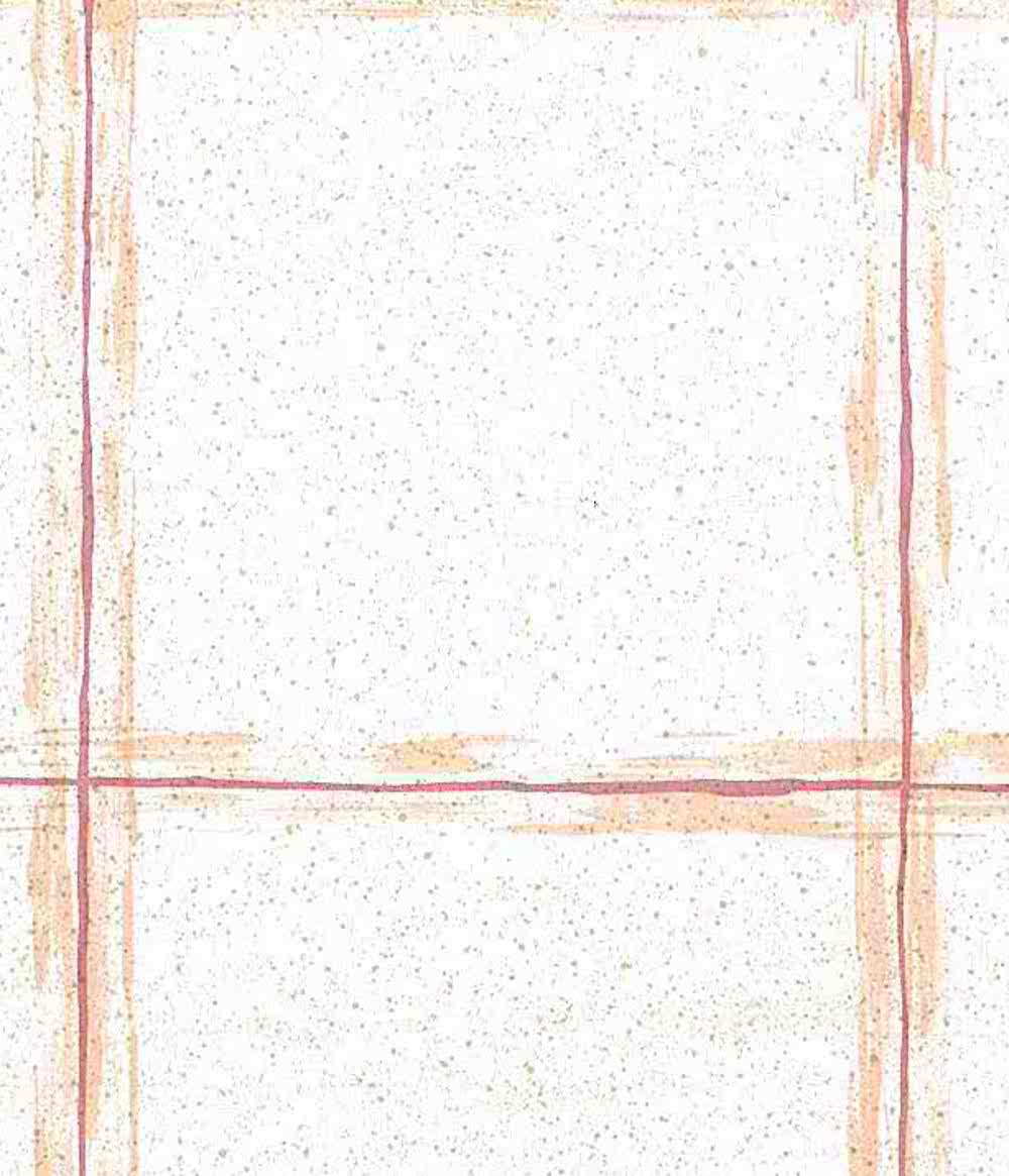 Plaid vintage Wallpaper salmon pink, large scale, orange, teal, dots