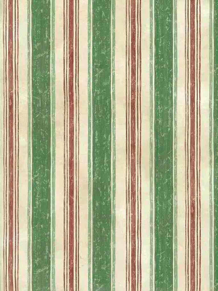 Green Striped Vintage Wallpaper Red Cream 7055 063
