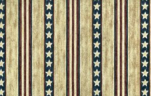 striped vintage wallpaper Americana, stars, stripes, blue, red, tan, white