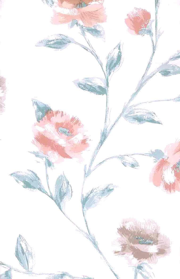 vintage wallpaper peach floral satin, taupe, green, white