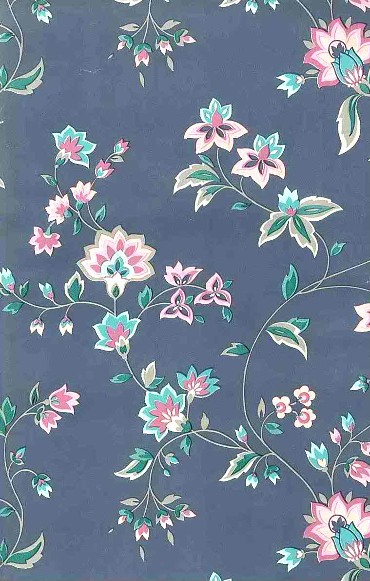 Waverly vintage floral wallpaper, gray, rose, pink, green, taupe, Engosh cottage