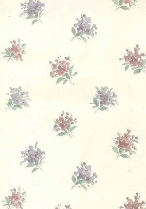 old-fashioned vintage wallpaper, floral, nosegayu, pink, lavender, cream, textured