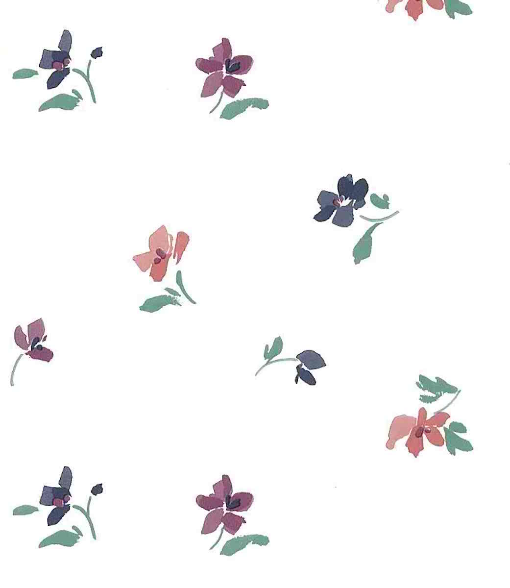 Contemporary Floral Wallpaper Purple Pink Magenta Off White Il551 Drs