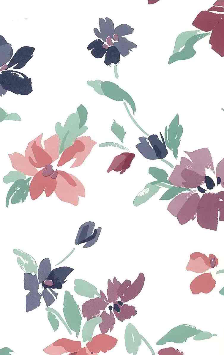 purple magenta floral vintage wallpaper, green, rose, pink white, cottage style