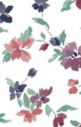 Cottage style floral wallpaper