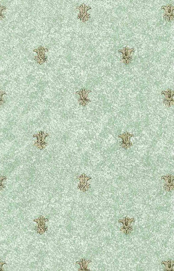 fleur-de-lys-wallpaper, green,white, gold metallic