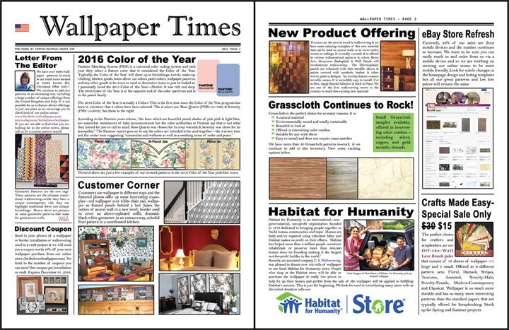Wallpaper Times Newsletter 2016 Issue 1