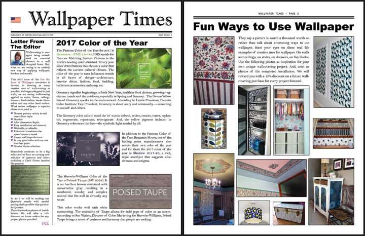 Wallpaper Times Newsletter 2017 Issue 1