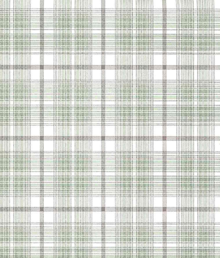 Plaid Wallpaper Brown Green Cream Cottage Kitchen Wv7322 D Rs