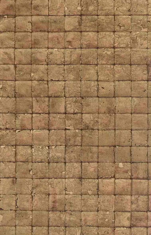 wallpaper-brown-check, squares, tiles, faux finish