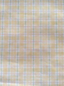 vintage wallpaper plaid yellow white, green, orange, cottage style