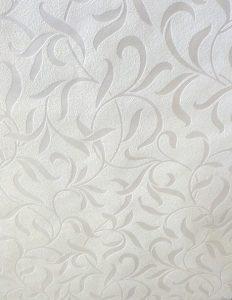 wallpaper white satin scroll tectured, cutout