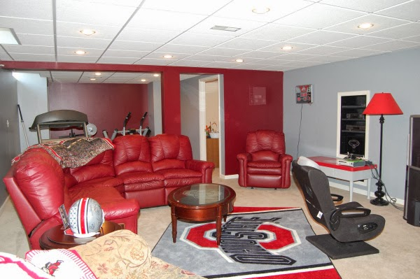 Ohio State Sports Themed Man Cave