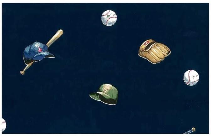 2013 world series Baseball Vintage Wallpaper Pattern with sports equipment