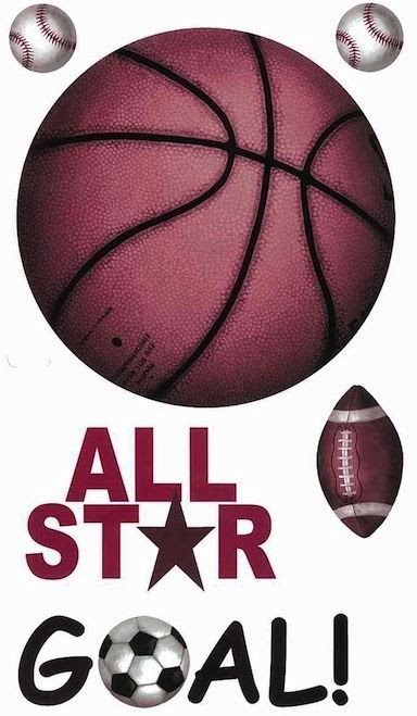 Basketball Sports Wall Decals