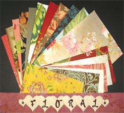 vintage floral wallpaper scraps - Love Bunch Paks